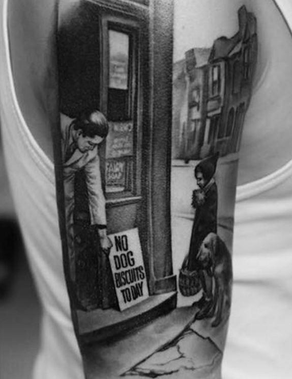 Stunning Black & Gray Tattoo