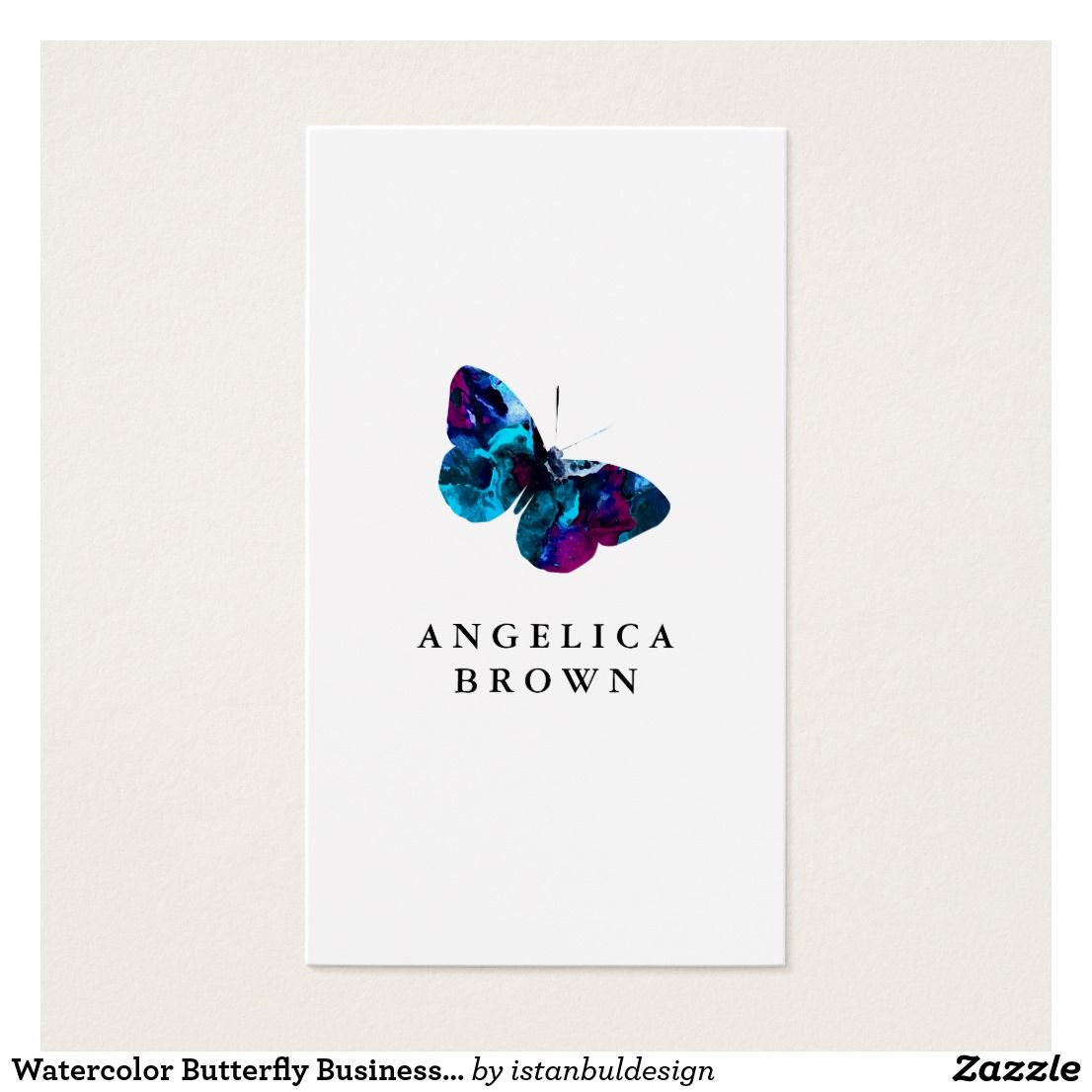 Watercolor Butterfly Business Card | Business cards and Business
