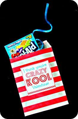 Kids homemade idea Blue Skies Ahead: Crazy Kool Valentines!