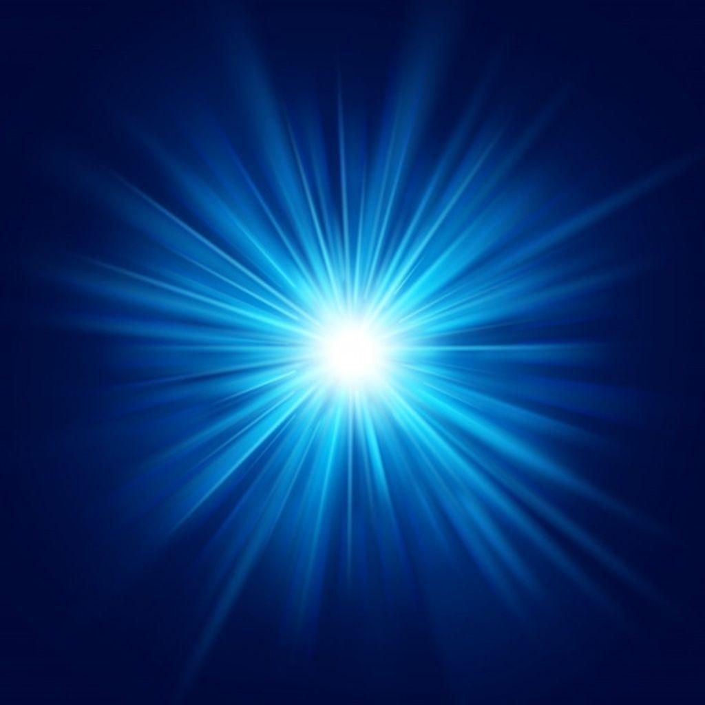 Deep Blue Glow Star Burst Flare Explosion Transparent Light Effect Paid Sponsored Ad Star Deep Blue Burst