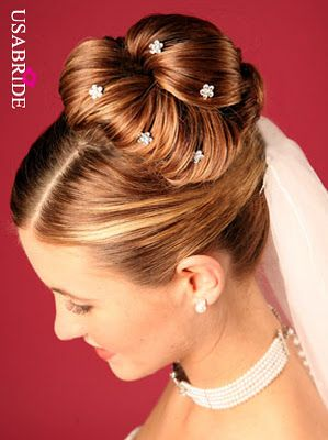 Love This Hair With The Veil And Pretty Bobby Pins Hairdo Wedding Bride Hairstyles Long Hair Updo