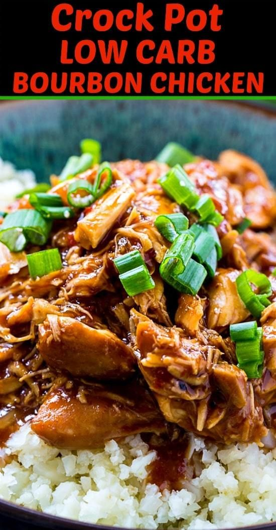 Photo of Crock Pot Low Carb Bourbon Chicken – Skinny Southern Recipes