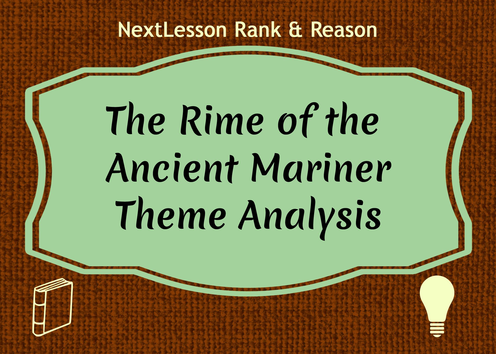 The rime of the ancient mariner theme analysis critical thinking analyze symbols used in poetry with this free lesson on the rime of the ancient mariner biocorpaavc Images