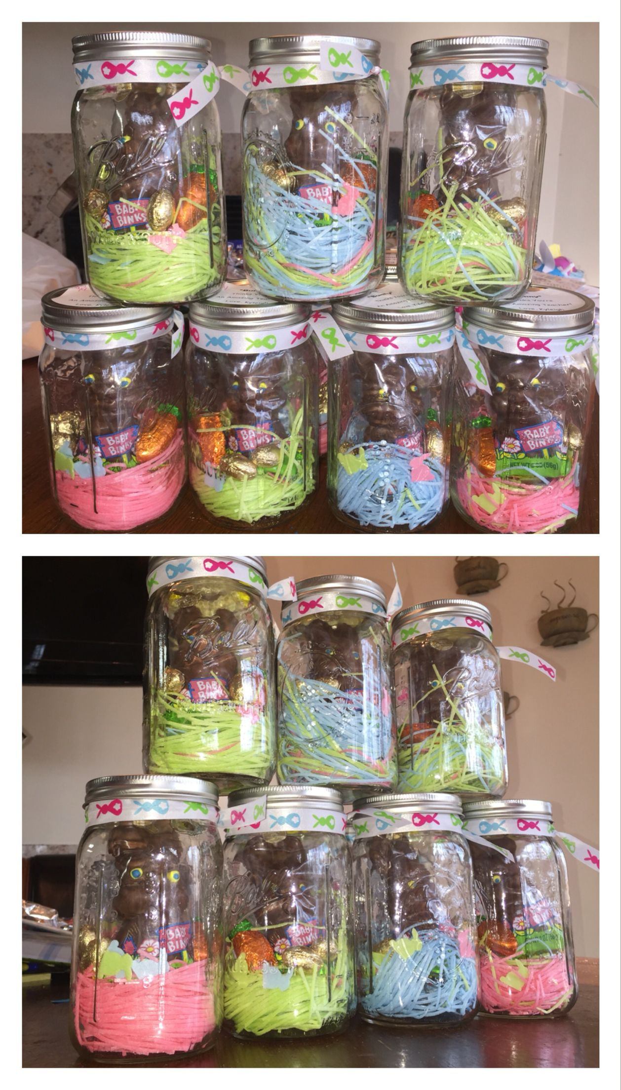 Easter gift chocolate bunny in jar i made this pinterest easter gift chocolate bunny in jar negle Images