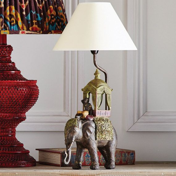 The Ceremonial Elephant Lamp | Elephant lamp, Desk lamp and Bedrooms