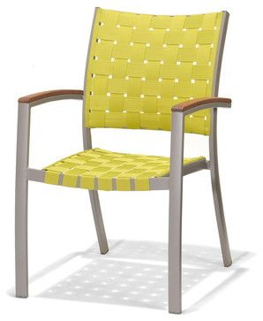 Patio By Jamie Durie Peninsula Outdoor Dining Chair Green Contemporary Chairs