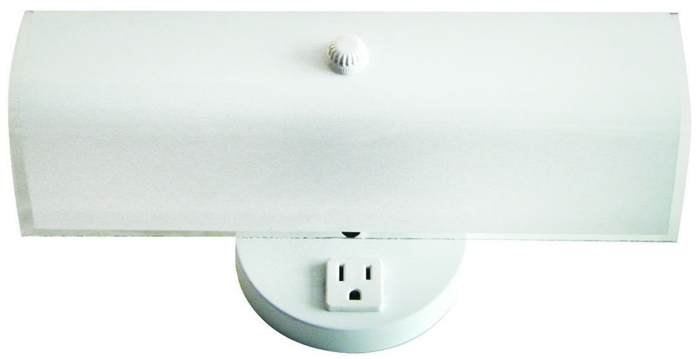 Bathroom Light Fixtures With Plug Outlet details about 2 bulb bathroom vanity light fixture wall mount with