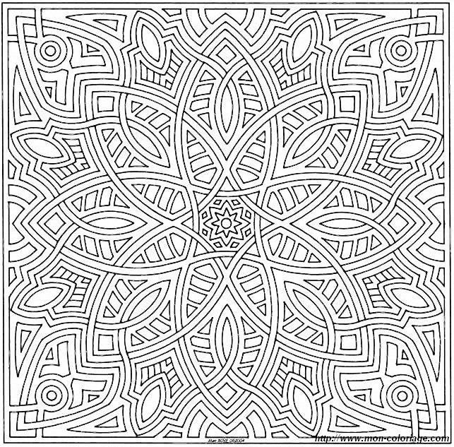 Kaleidoscope Coloring Pages for Adults | Christmas Ornaments ...
