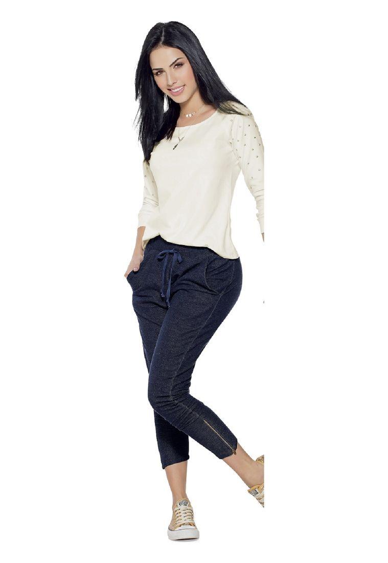 76c72edc60b8 Pantalón Juvenil para Mujer Azul Marketing Personal 55434 - Compra ...