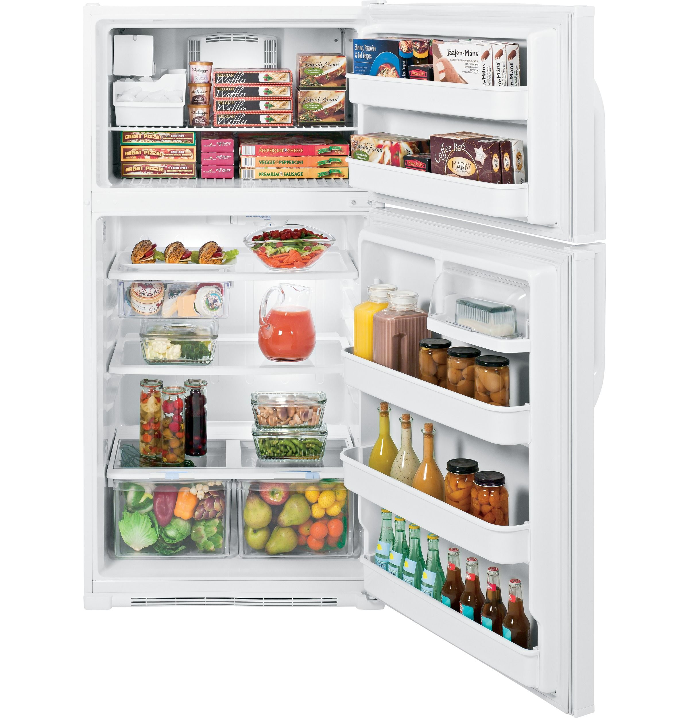 Ge 21 0 Cu Ft Top Freezer Refrigerator Gth21gceww Top Freezer Refrigerator Cool Kitchens Refrigerator