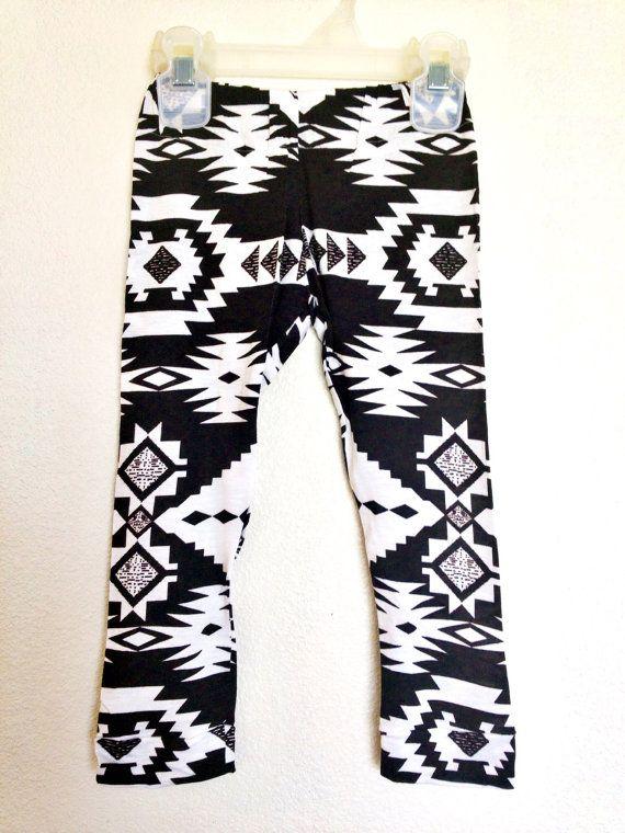 JosieRae Black&White Aztec Leggings 6 month  on Etsy, $18.00