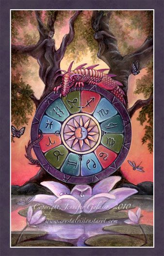 The Wheel Of Fortune - Crystal Visions Tarot
