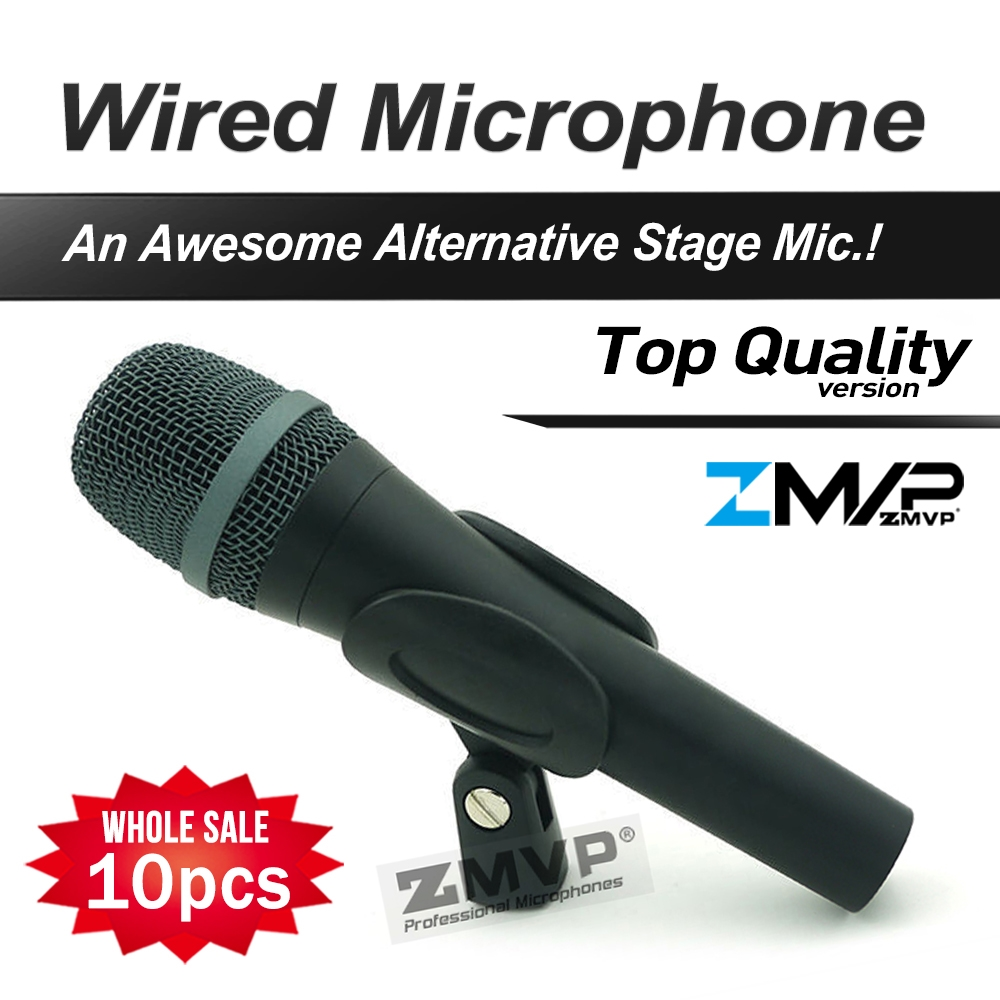 197 37 Watch Here Free Shipping 10pcs Top Quality 945 Professional Karaoke Dynamic Super Cardioid Vocal Wired Microphone Microfone Microphone Karaoke Mic