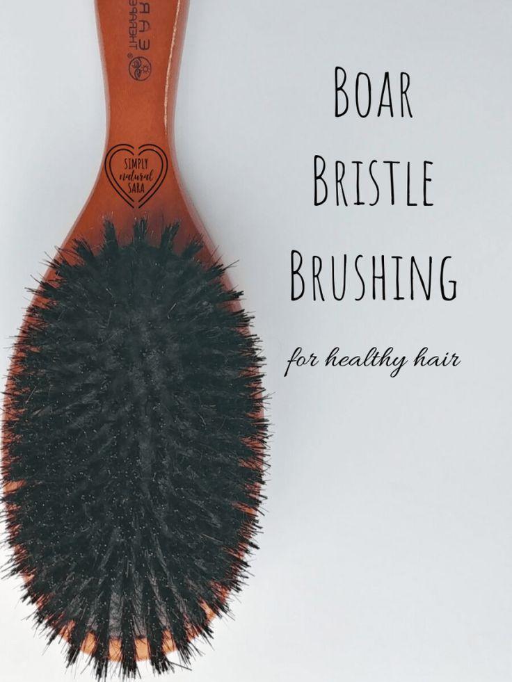 Boar Bristle Brush Simply Natural Sara Boar Bristle Brush Nourishing Hair Boar Bristle