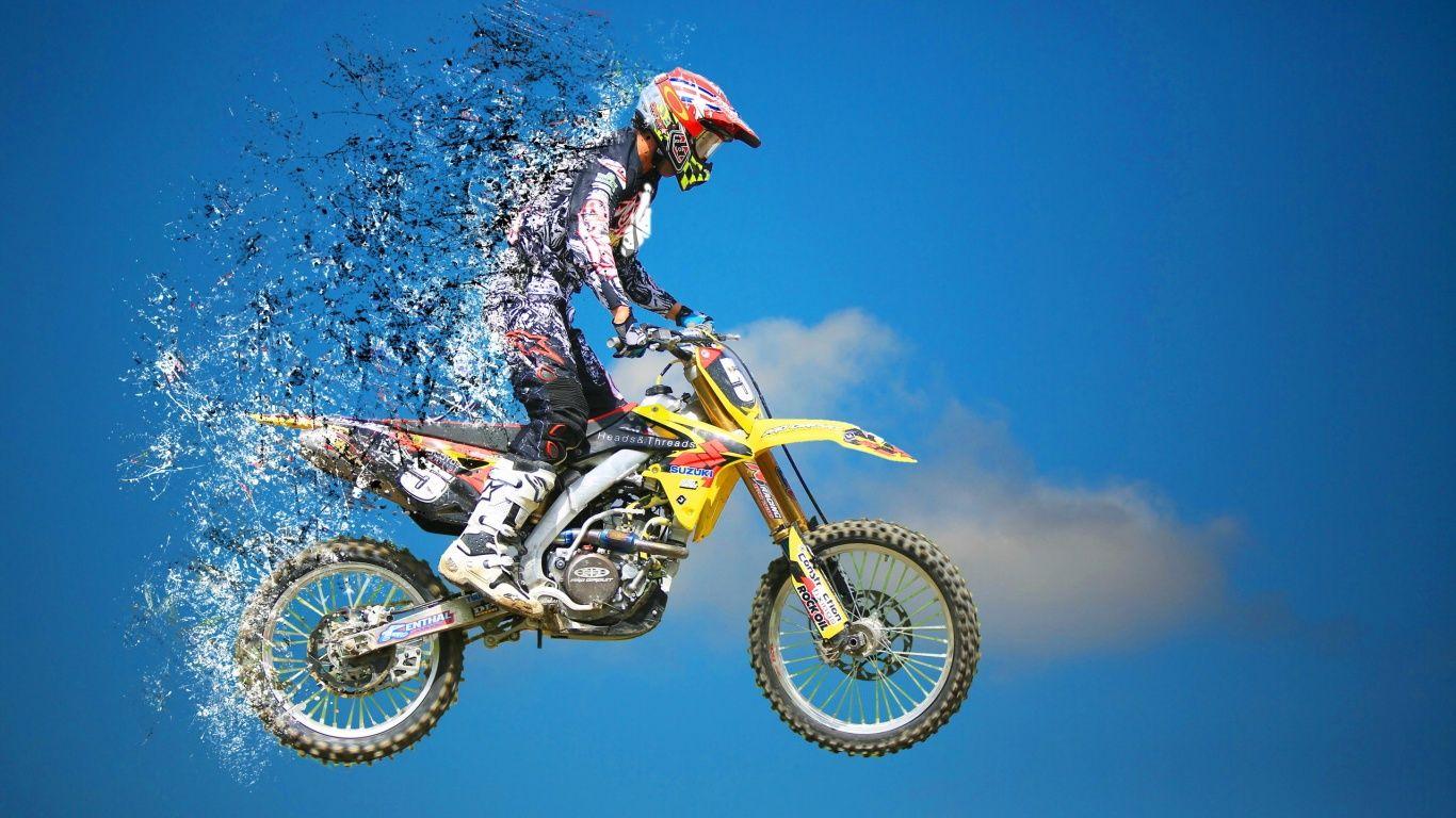 motocross jump sports hd wallpaper | bike | Pinterest