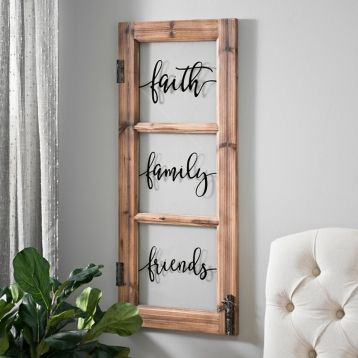 3 pane window white faith family friends 3pane window plaque in 2018 home decor