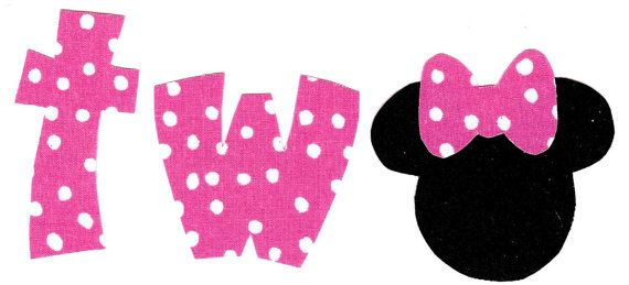 Minnie Mouse iron on two applique DIY by patternoldies on Etsy, $2.75