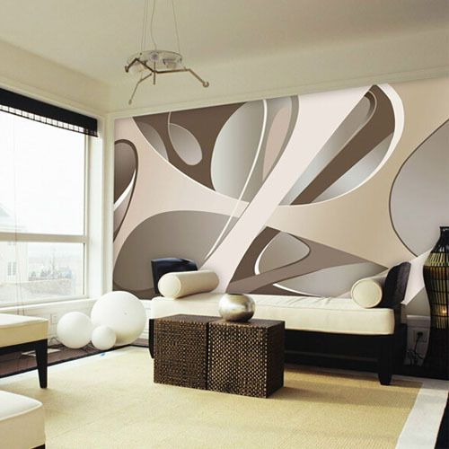 Europe Large Abstract Wall Mural, Large Living Room Wall Murals