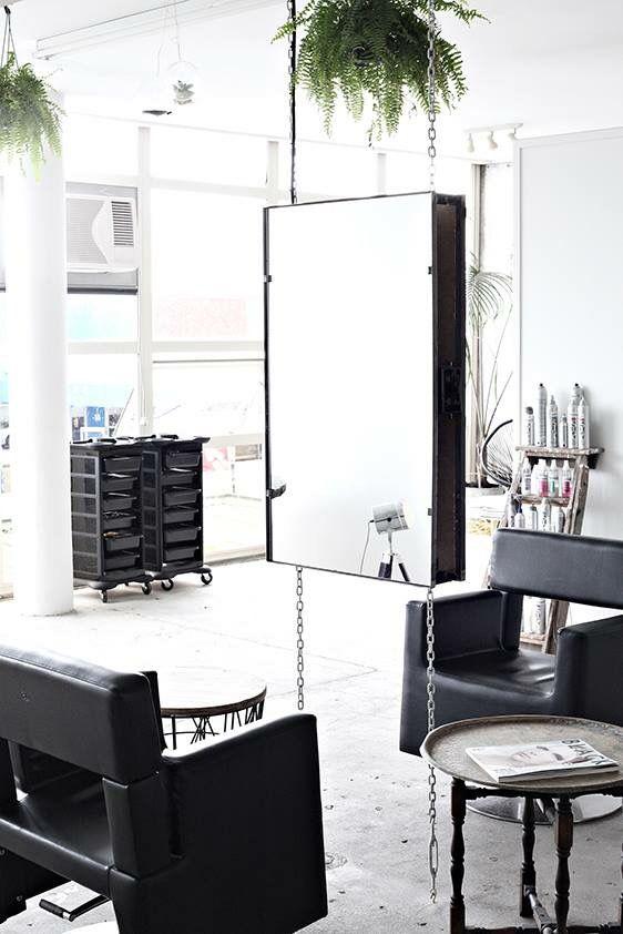 New York Loft Style Hair Salon White Black Dan Blk Creative