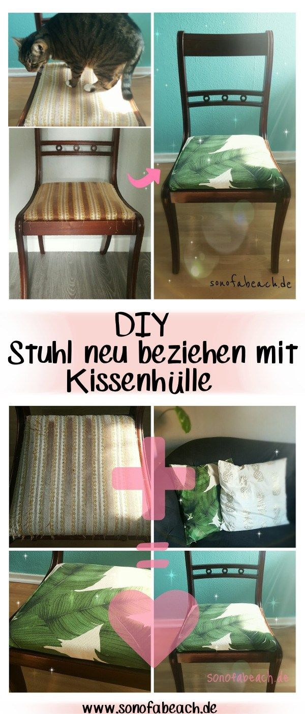 m bel upcycling stuhl beziehen mit kissenh lle st hle neu beziehen alte st hle und kissenh llen. Black Bedroom Furniture Sets. Home Design Ideas