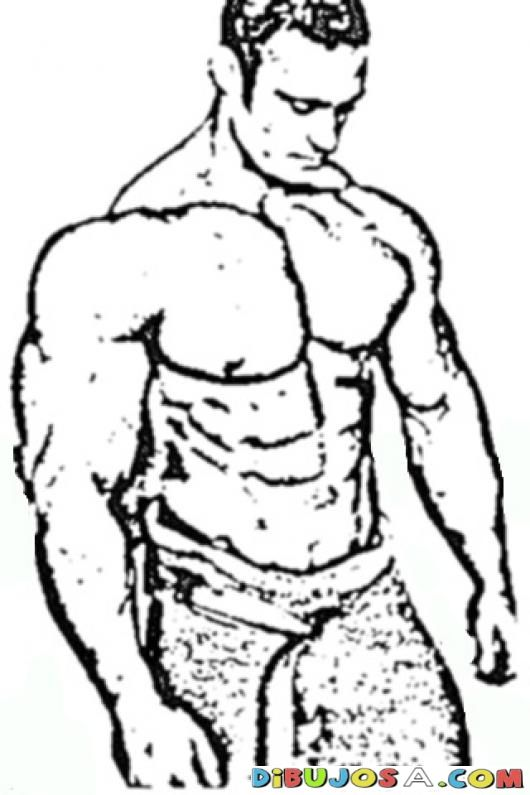 Strong Man Realistic Coloring Pages