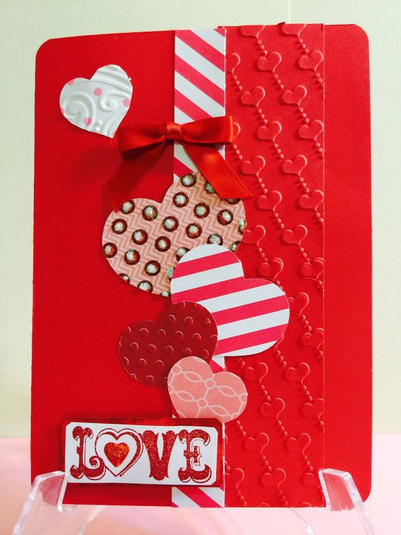 Handmade Greeting Card Valentines Day Elegant by CWenselCreations