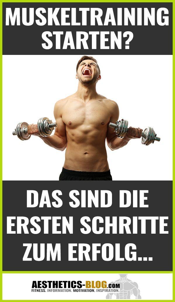 Dein Ziel ist #Muskelaufbau, aber Du hast keinen Plan wie Du beginnen sollst? Mit KLICK AUF DEN PIN...