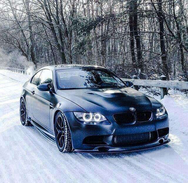 Bmwpensation: BMW E92 M3 Matte Black Winter
