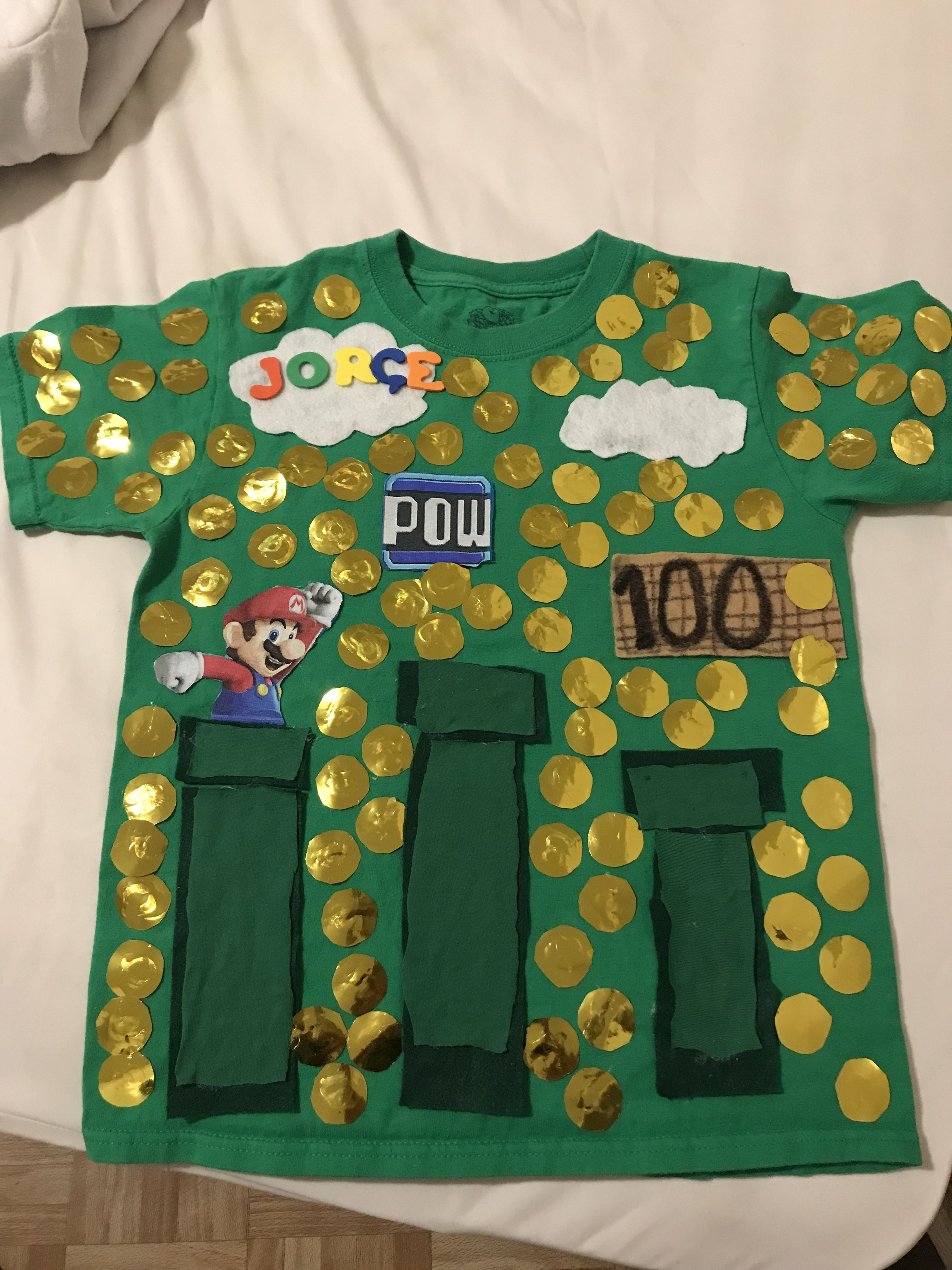 Jorge S Super Mario Shirt 1st Grade 100th Day Of School