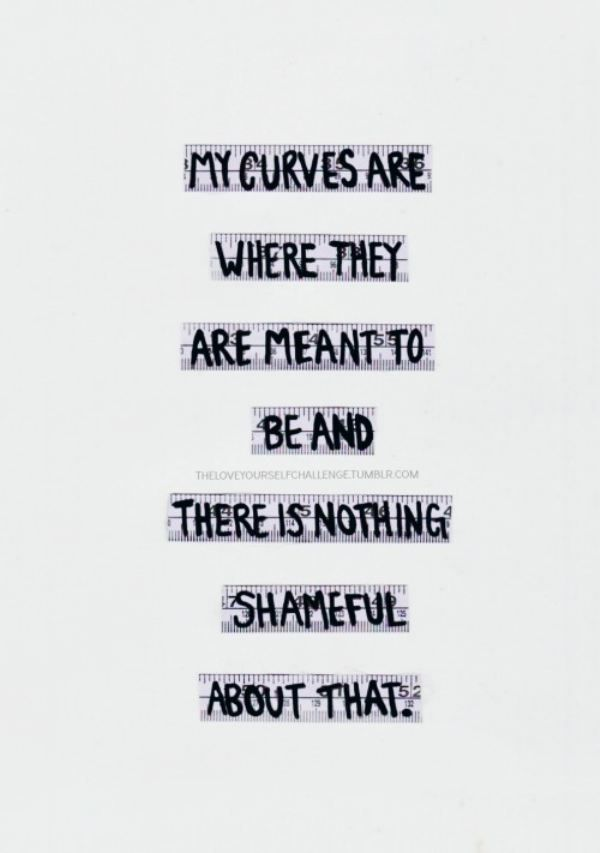 Embrace Your Curves Health Fitness Body Quotes Body Positive