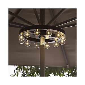 Umbrella Marquee Lights Crate and Barrel Marquee lights