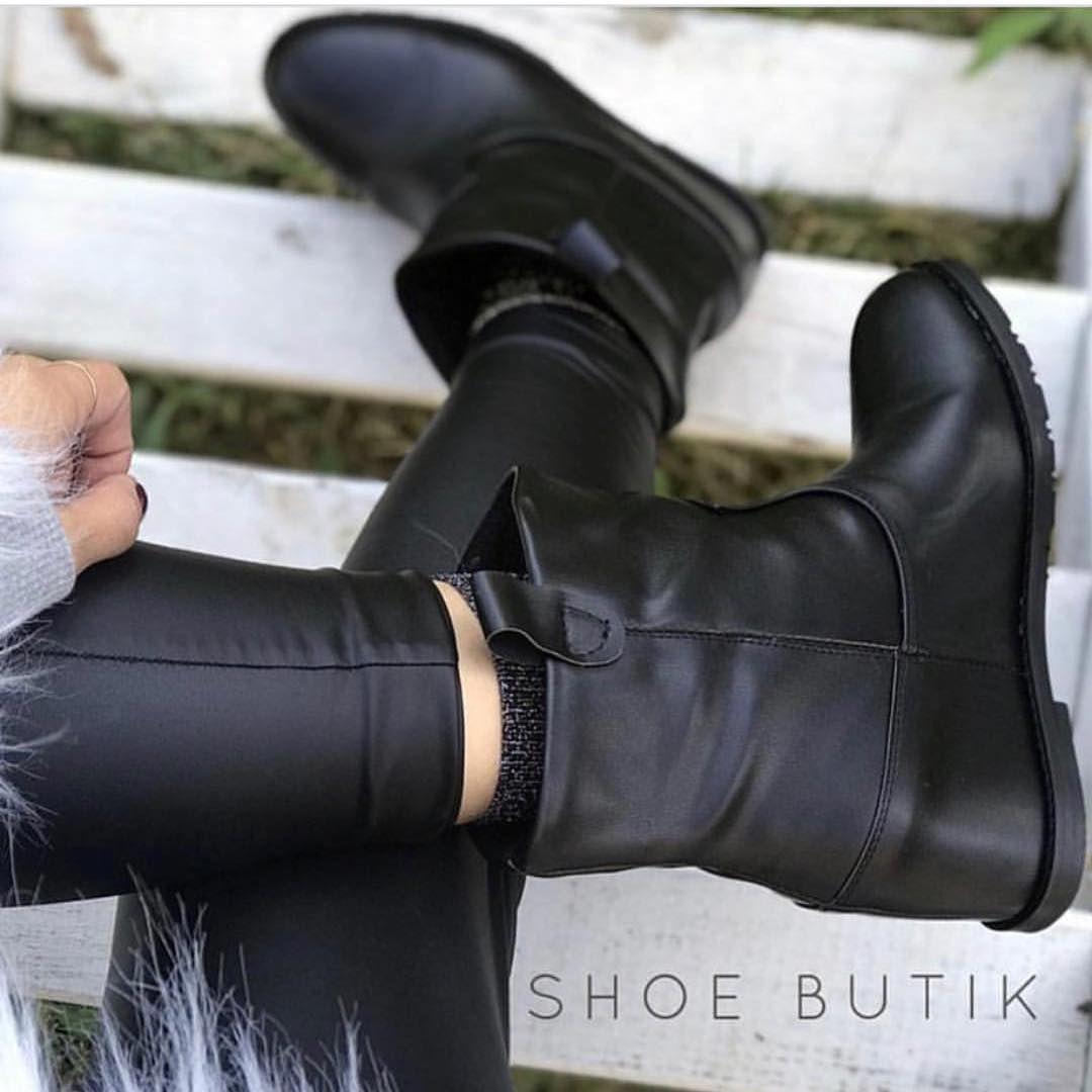 89 Begenme 1 Yorum Instagram 39 Da Ayakkabi Butik Shoebutik Quot Spy Gizli Dolgu Siyah Deri Bot Yeni Sezon 5 C Instagram Shoes Shoes Shoe Boutique