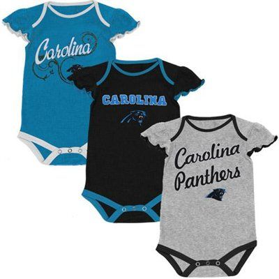 differently 08e40 d5952 Carolina Panthers Infant Girls Scalloped Sleeve 3-Pack ...