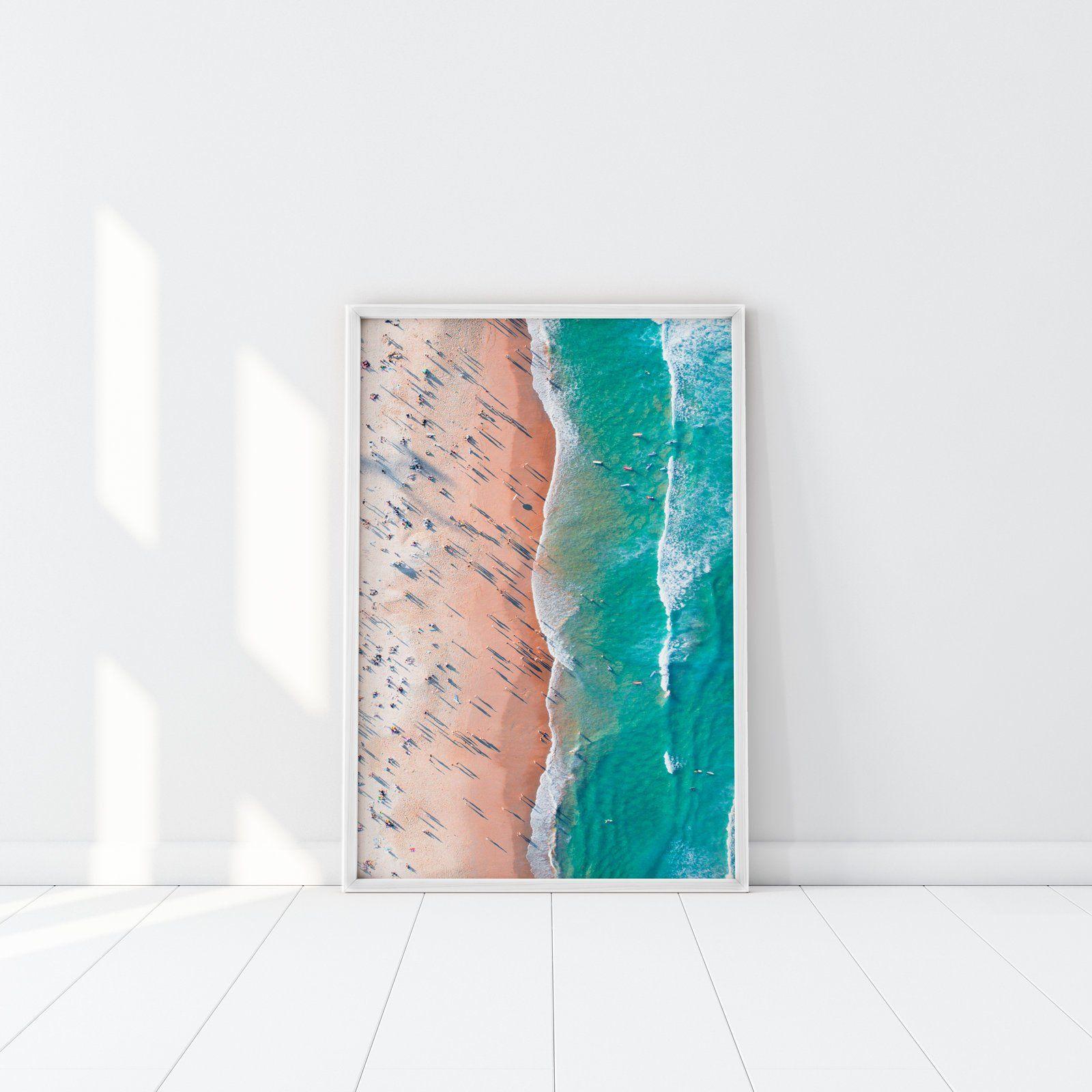 Half Sand Half Sea, Drone print, Beach print, Bondi Beach