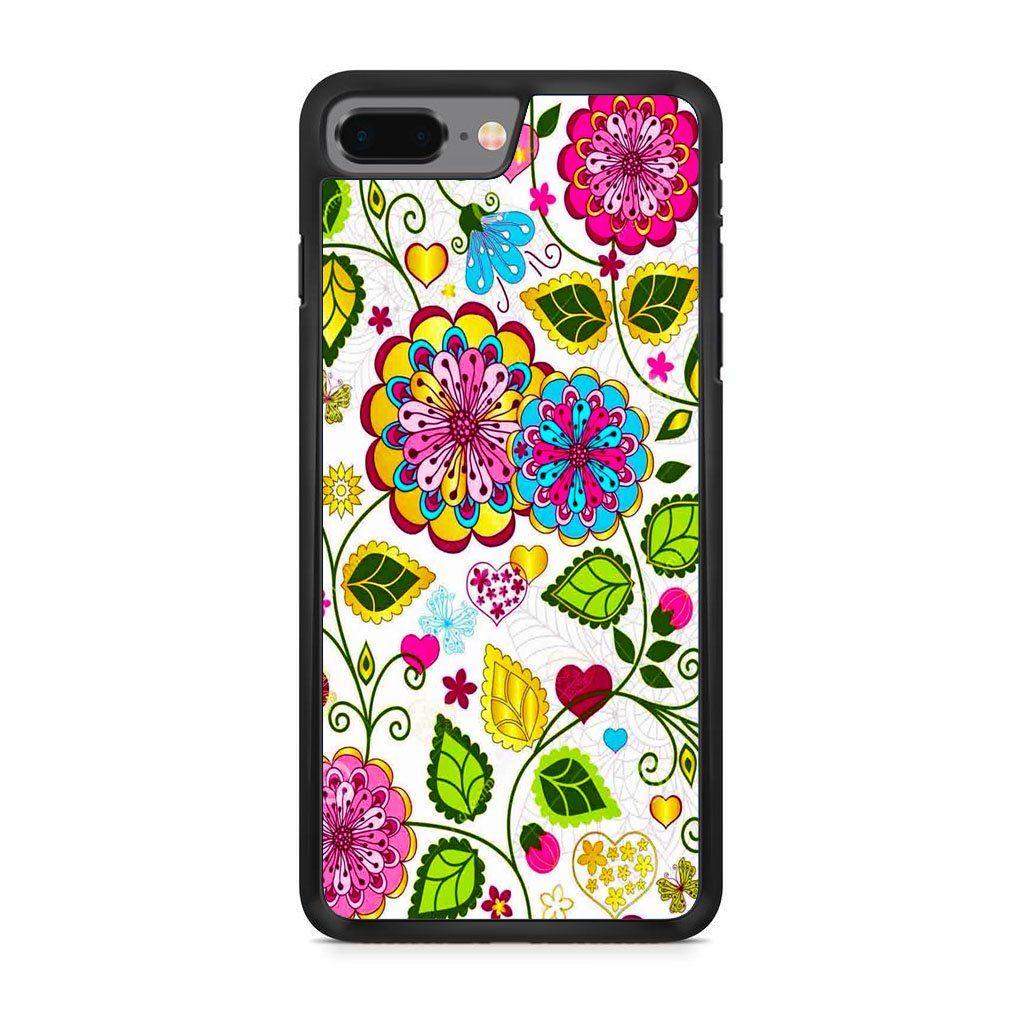 Colorful flowers iphone 8 plus case customcase