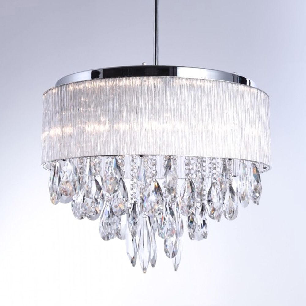 Modern Crystal Chandelier Chrome Flush Mount Ceiling Light Fixture Ceiling Lights Flush Mount Ceiling Light Fixtures Modern Crystal Chandelier