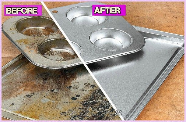 Kitchen Cleaning Hacks To Clean Burnt Baking Sheet Different Ways And Tips To Clean Aluminium Glass O Diy Cleaning Products Cleaning Hacks Cleaning Solutions