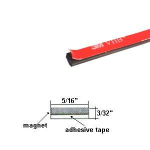 Flexible Magnetic Strip With High Bond 3m Adhesive Tape Width 5
