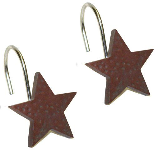 Red Star Shower Curtain Hooks By Park Designs