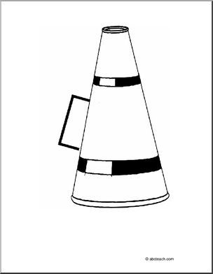 Coloring Page Megaphone Color This Picture Of A Megaphone Or