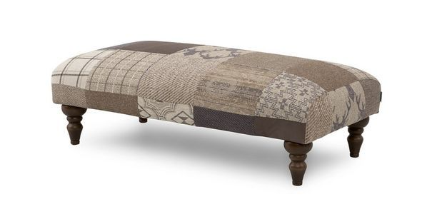 Country Patch Banquette Footstool  Country Patch | DFS