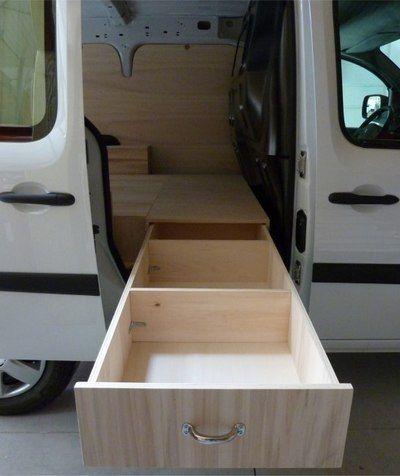 Dresser Drawers Trays Van Motorhome Blue Prints Truck Camper Storage Van Camping Easy Diy Caravan Van Ideas