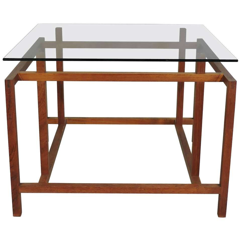 Danish Modern Teak And Glass Side End Table By Henning Norgaard For Komfort Glass Side Tables Rosewood Side Table Modern Table Design [ 960 x 960 Pixel ]