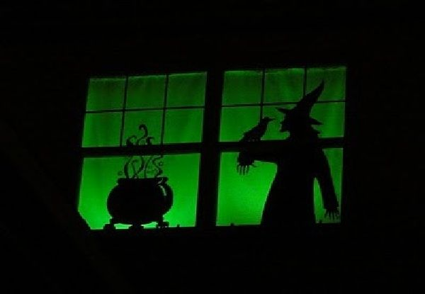 decorating with witches Witches and owls theme on 25 Ideas To - halloween window ideas