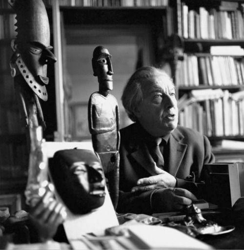 Paul Almásy: André Breton, Atelier de la Rue Fontaine, 1962.