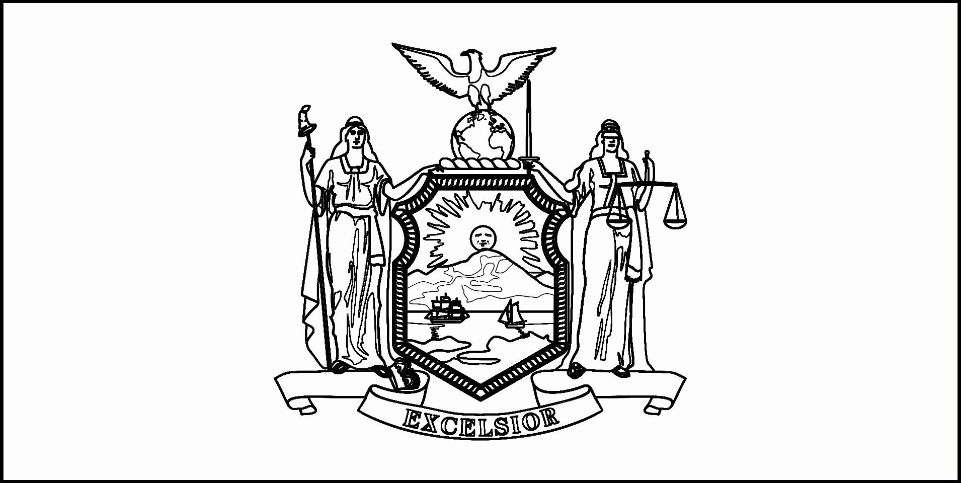Idaho State Flag Coloring Page Beautiful New York State Seal