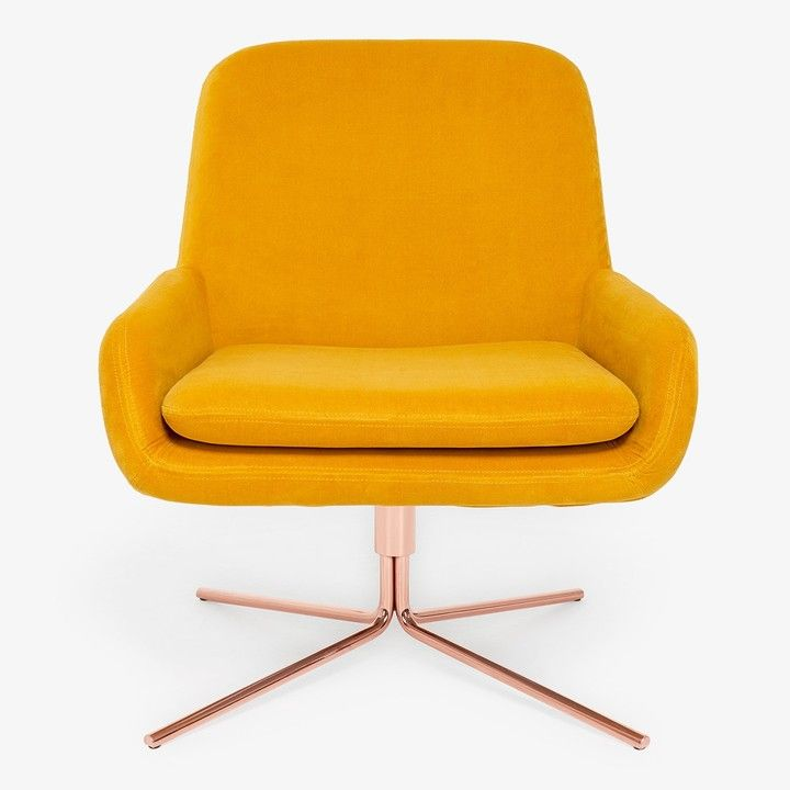 Softline Softline Swivel Square Chair Yellow