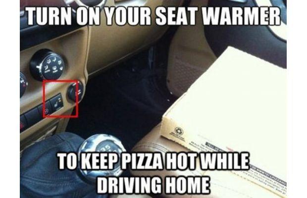 keep the pizza warm