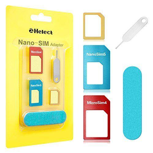 Adapter Für Sim Karte.Mehr Infos Helect Sim Karten Adapter Für Smartphones 5 In 1 Nano