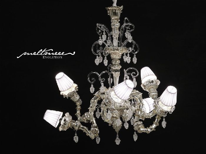 Andromeda Murano Melt Mee White Chandelier design idea as seen on ...